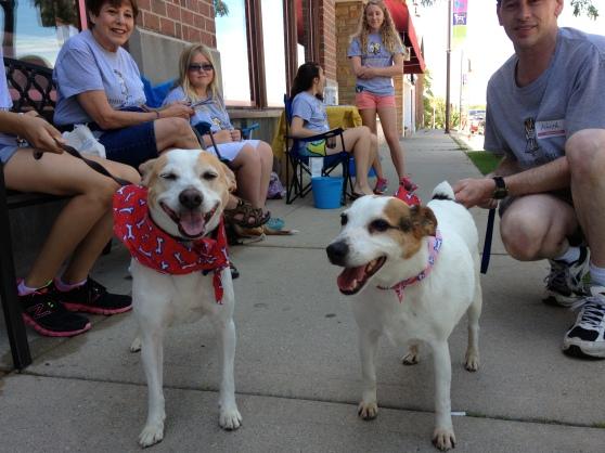 Emilio (right) and Sassy (left)